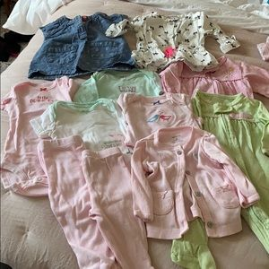 Carters- 11 piece 3 month baby girl clothes bundle